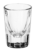 FLUTED SHOT GLASS, 2OZ, 1DZ/PK