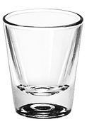 WHISKEY SHOT GLASS, 1.25OZ, 1DZ/PK