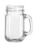 MASON JAR W/HANDLE (PLAIN) 16.5OZ 1DZ/CS